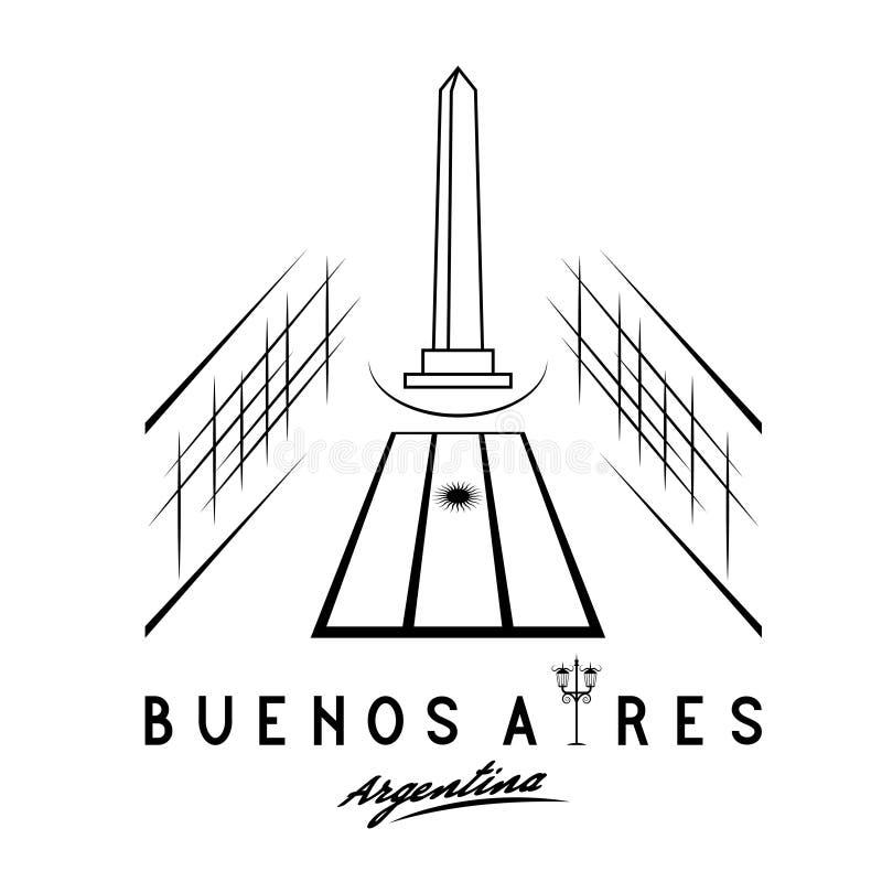 illustratie van nationaal historisch monument de Obelisk van stock illustratie