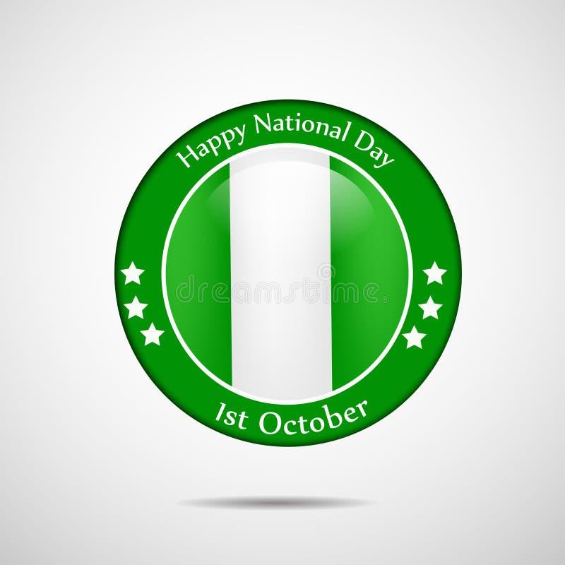 Illustratie van Nationale de Dagachtergrond van Nigeria royalty-vrije illustratie