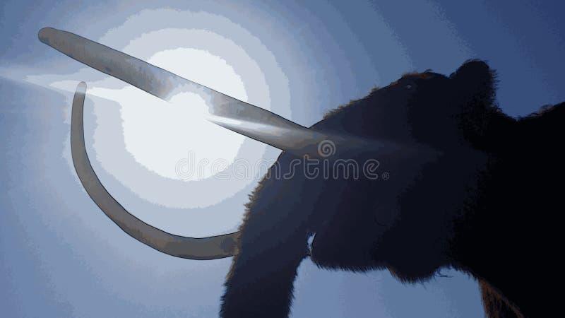 Illustratie van oude pachyderm vector illustratie