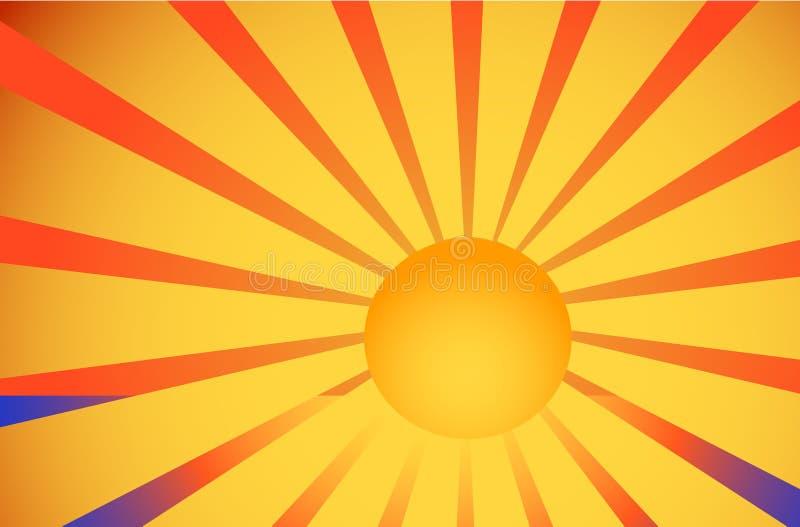 Illustratie van overzees en zon