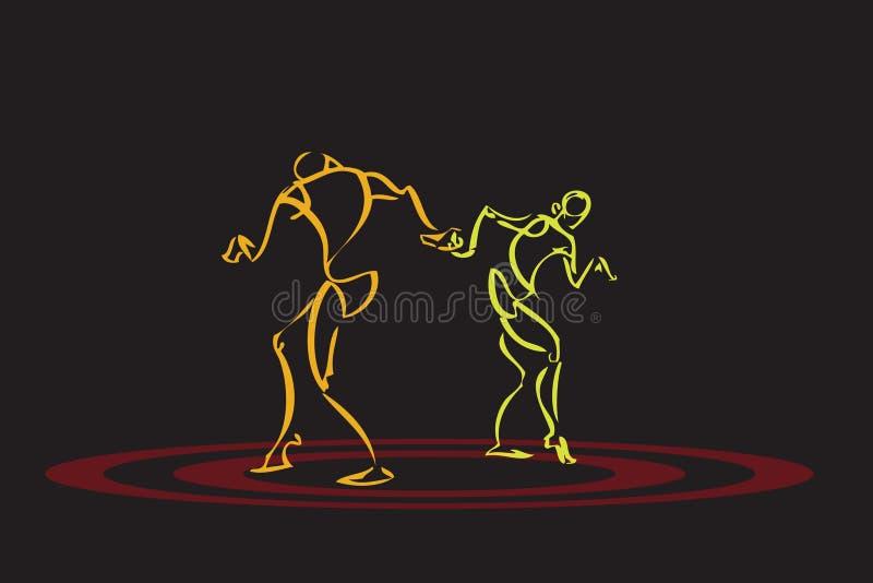 Illustratie van paar het dansen royalty-vrije illustratie