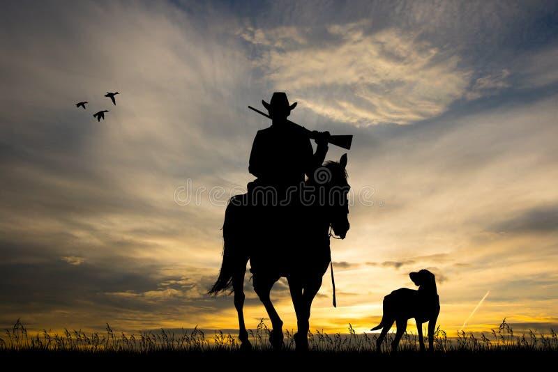 Illustratie van paardjagers royalty-vrije illustratie