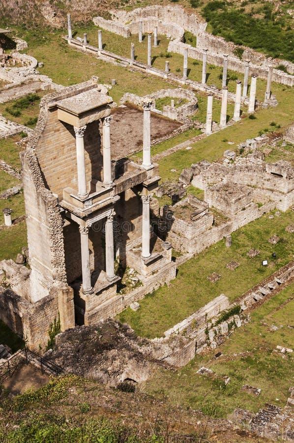 Roman theater stock afbeelding