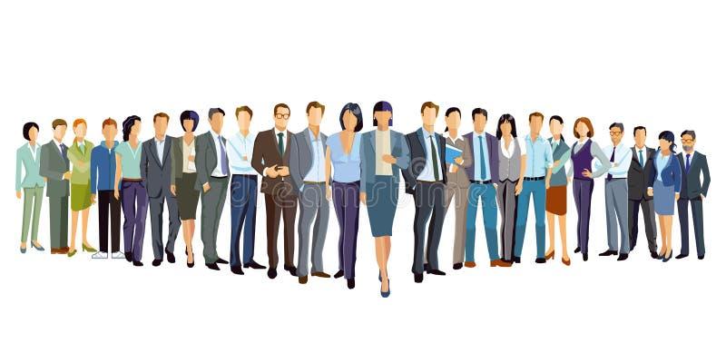 Illustratie van professionele mensen stock illustratie