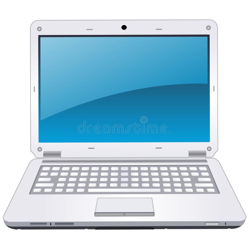Illustratie van professionele moderne laptop vector illustratie