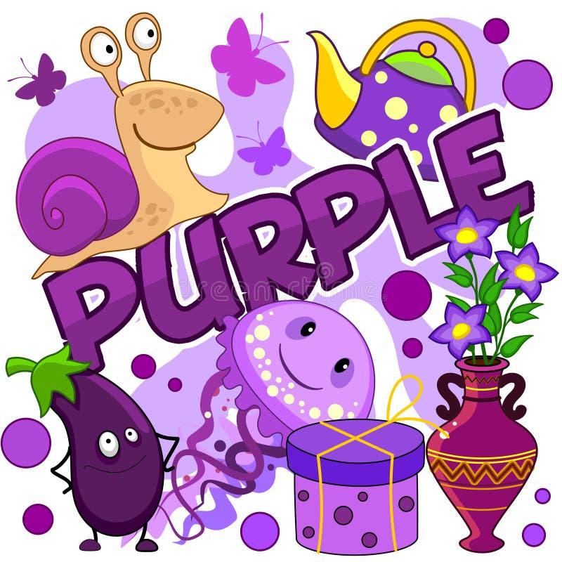 Illustratie van purpere kleur stock illustratie