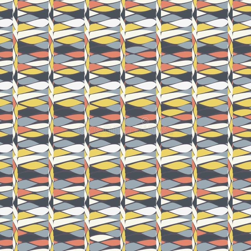 Illustratie van rijen van kalk, wit, tan en grijze tranen in geometrisch patroon royalty-vrije illustratie