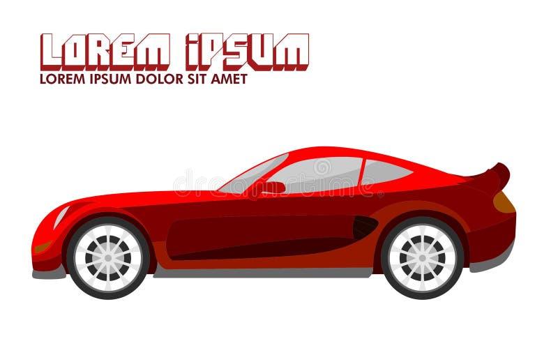 Illustratie van Rode Sportwagen royalty-vrije illustratie