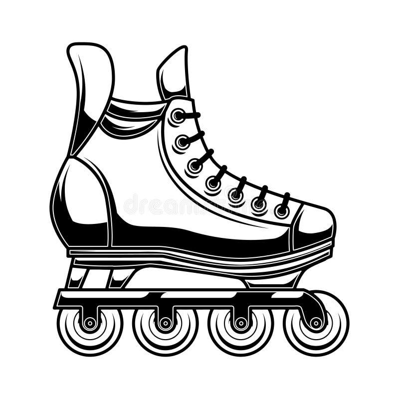 Illustratie van rolschaatsen Ontwerpelement voor embleem, etiket, embleem, teken, affiche vector illustratie