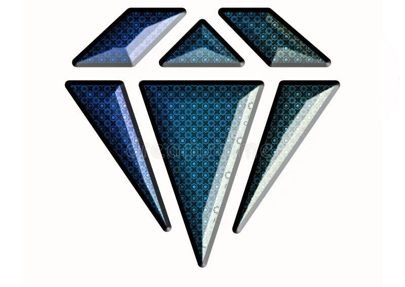 Illustratie van saffier blauwe diamant royalty-vrije stock foto's