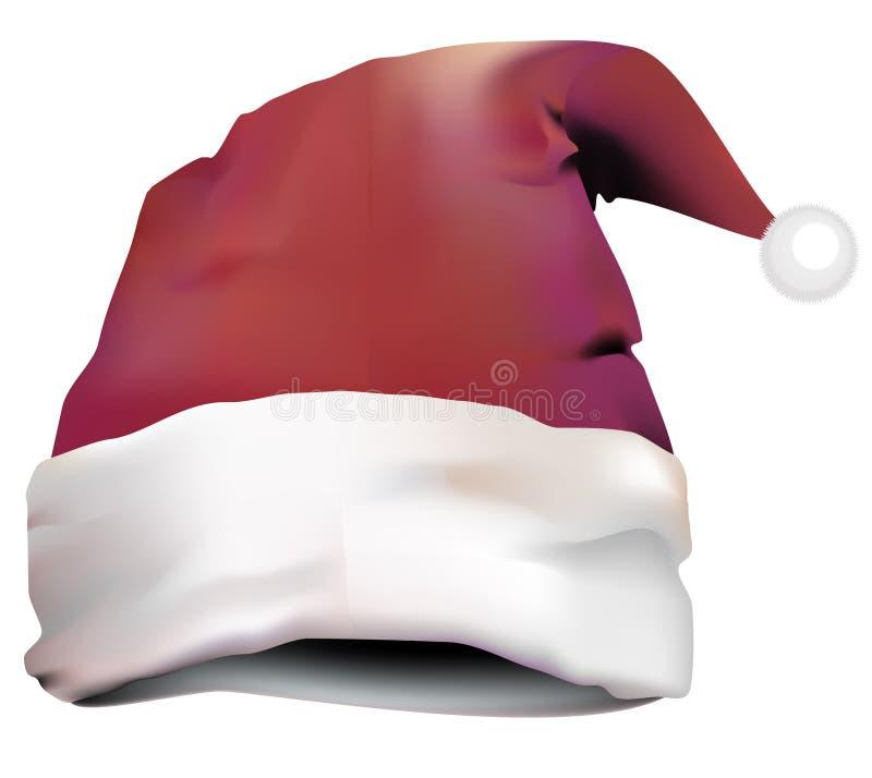 Illustratie van Santa Claus-hoed vector illustratie
