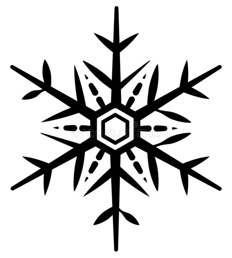 Illustratie van sneeuwvlokpictogram op witte achtergrond stock illustratie