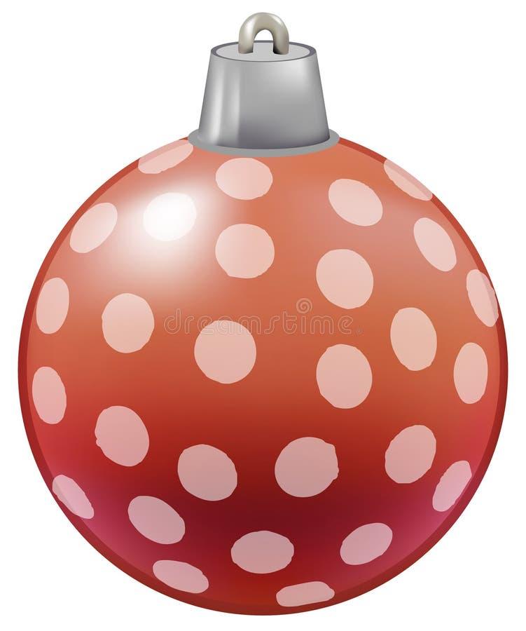 Illustratie van snuisterij voor Kerstboomdecoratie vector illustratie