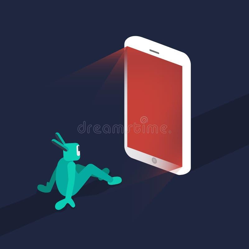 Illustratie van sociale media verslaving vector illustratie