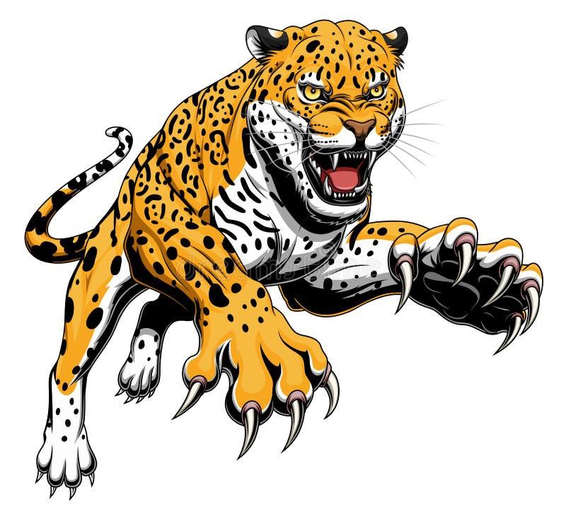 Illustratie van springende jaguar vector illustratie