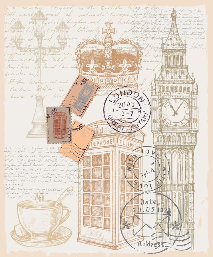 Illustratie van telefoon Groot-Brittannië royalty-vrije illustratie