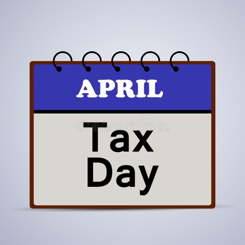 Illustratie van U S Een achtergrond van de Belastingsdag royalty-vrije illustratie