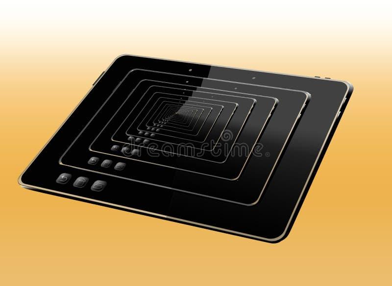 Download Illustratie Van Vele Zwarte Tabletten Stock Afbeelding - Afbeelding bestaande uit zwart, modern: 39110481