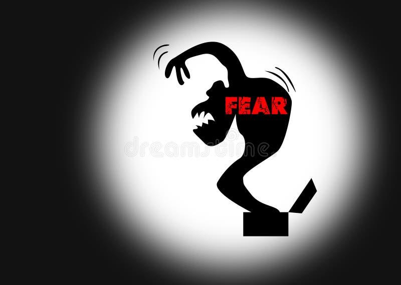 Illustratie van vrees stock fotografie