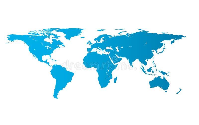 Illustratie van wereldkaart stock illustratie