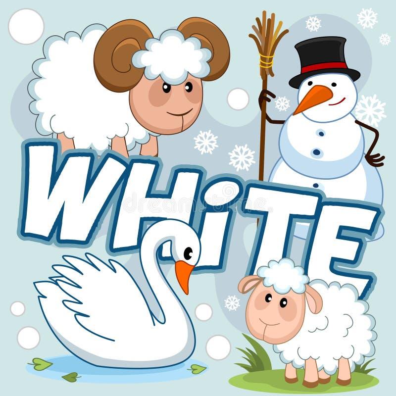 Illustratie van witte kleur stock illustratie