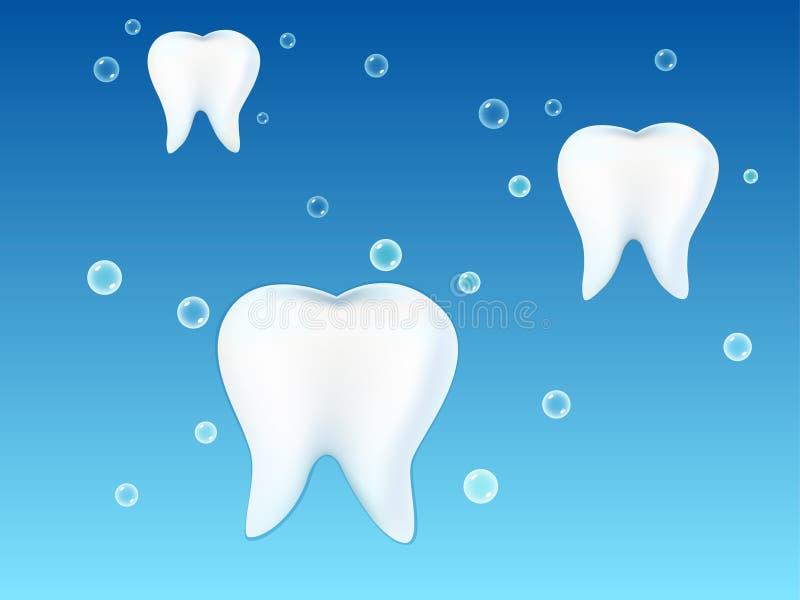 Illustratie van witte tanden vector illustratie