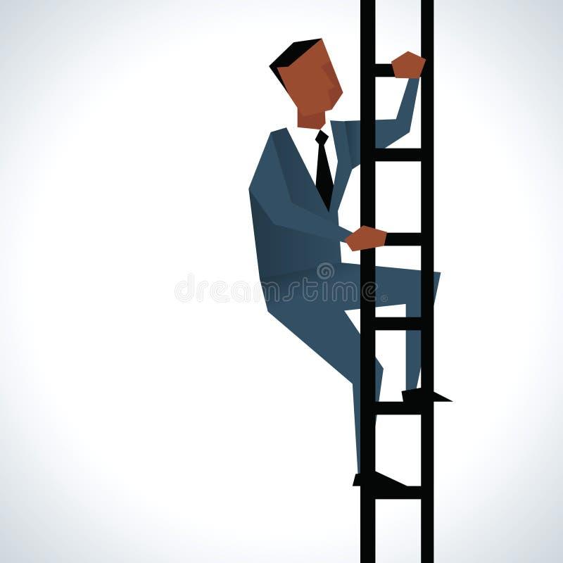 Illustratie van Zakenman Climbing Ladder vector illustratie