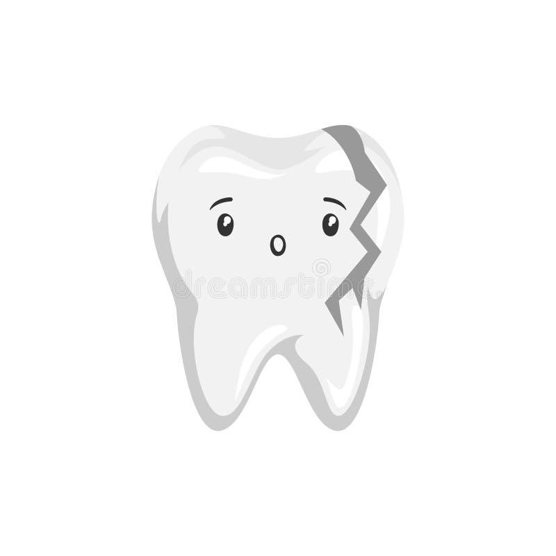 Illustratie van zieken gebroken tand royalty-vrije illustratie