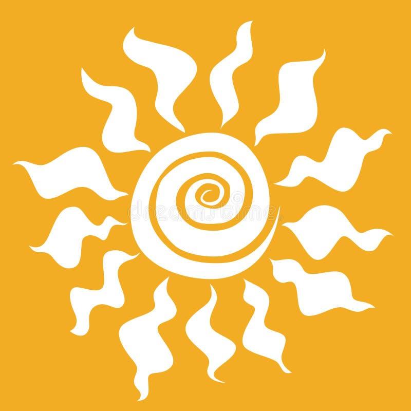 Illustratie van zon vector illustratie