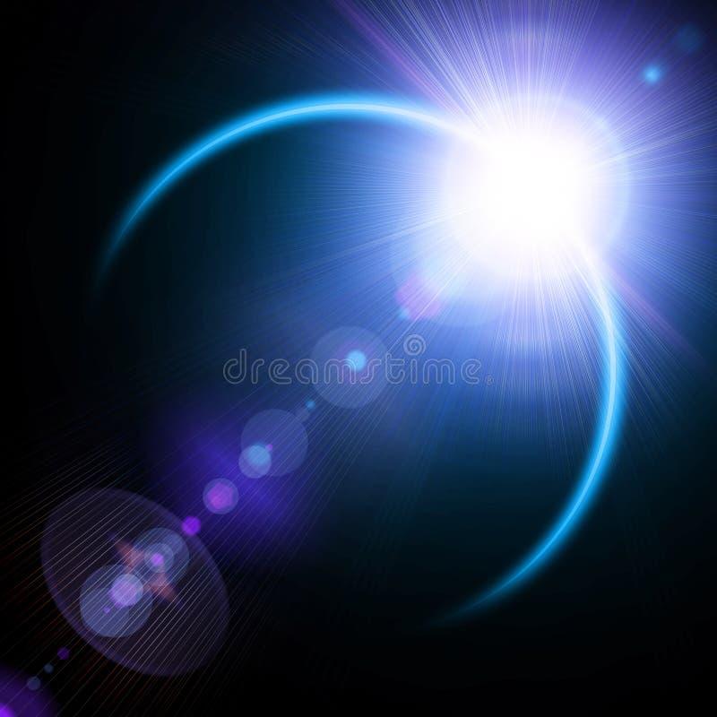 Illustratie van zonneverduistering royalty-vrije illustratie