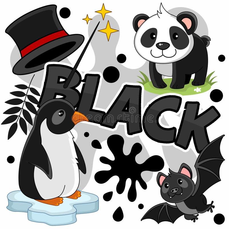 Illustratie van zwarte kleur vector illustratie