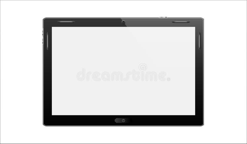 Illustratie van zwarte tabletpc royalty-vrije illustratie