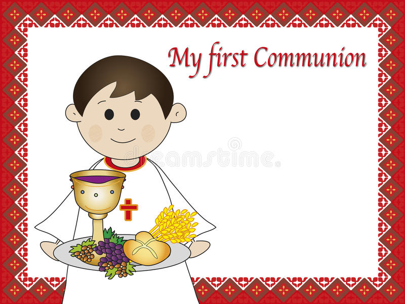 Eerste kerkgemeenschap stock illustratie