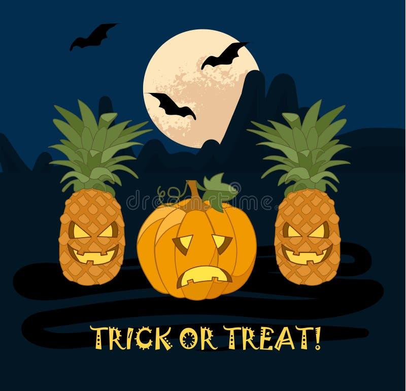 Illustratie voor Halloween royalty-vrije stock afbeeldingen