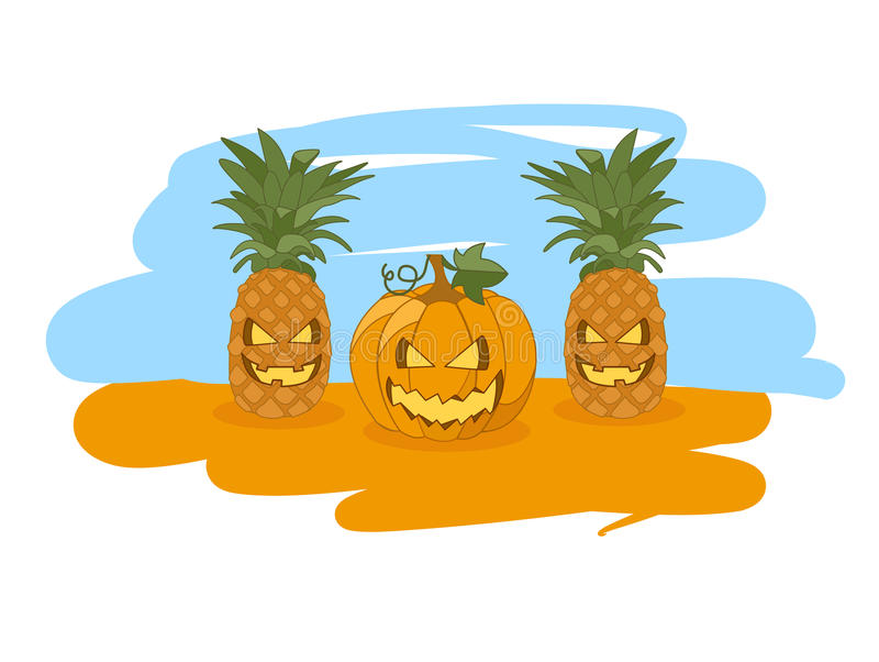 Illustratie voor Halloween royalty-vrije stock afbeelding