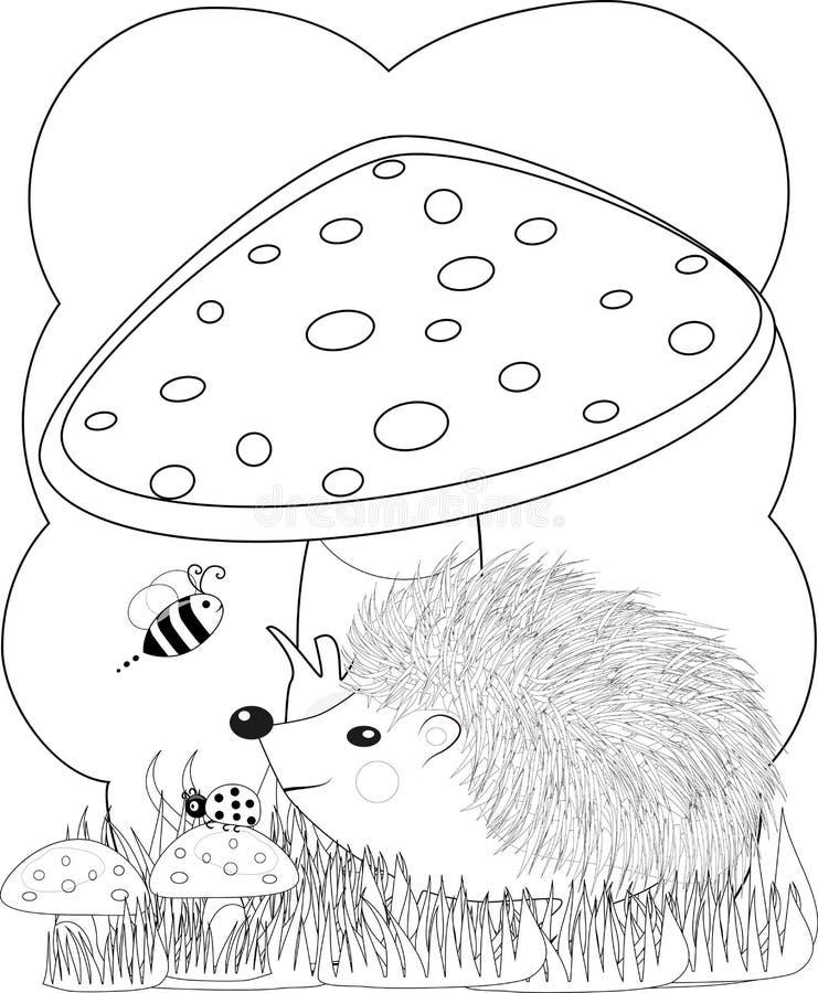 illustratie zentangl Krabbelegel het Kleuren pagina Antispanning voor volwassenen royalty-vrije illustratie