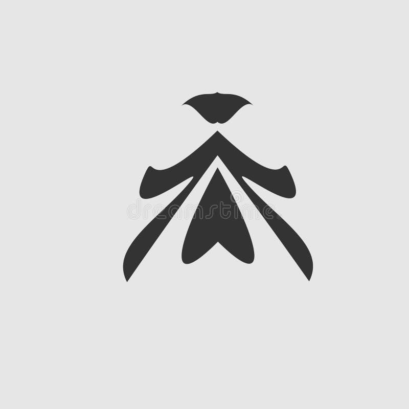 Illustratiekunst van een ontwerp van het mensenembleem met achtergrond, de vrijheidsbeweging van de dansmens vector illustratie
