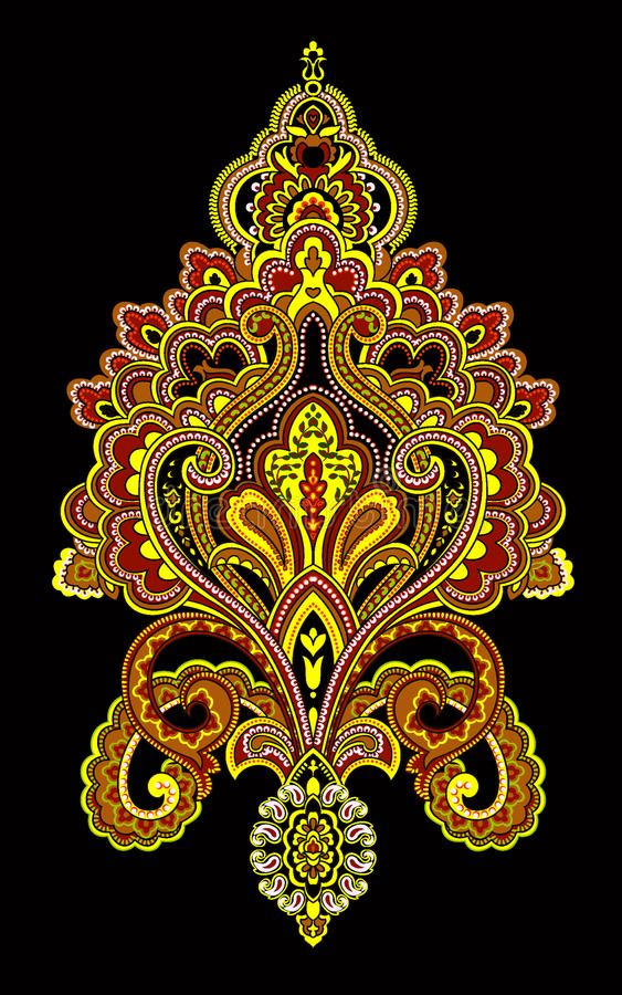 Illustratiepatroon op eenvoudige achtergrond royalty-vrije illustratie