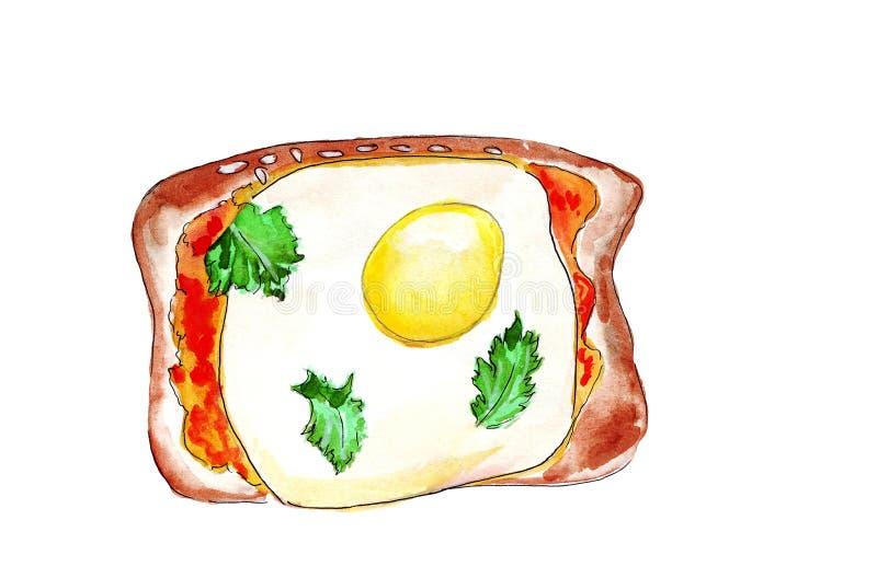 Illustratiereeks van het schetsen van sandwiches met verscheidenheid van vullingen, verschillende samenstelling en ingrediënten royalty-vrije illustratie