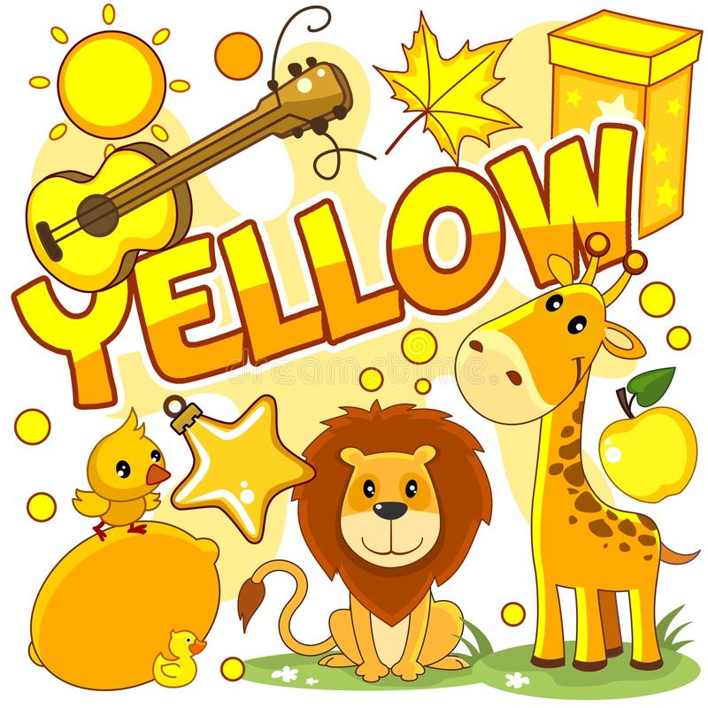 Illustraties van gele kleur vector illustratie