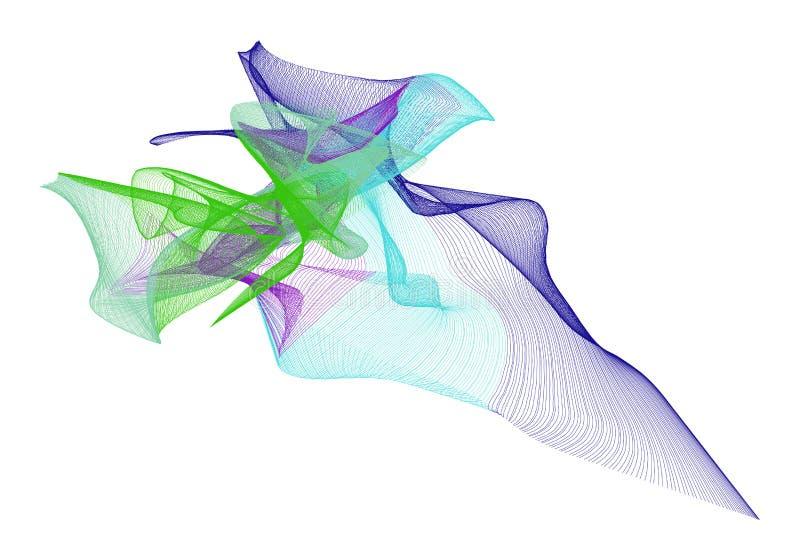 Illustraties van rokerig lijnart. Herhaal, ronde, creatief & tekening vector illustratie