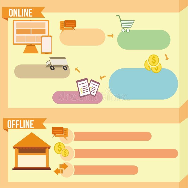 Illustratieve oranje banner stock illustratie