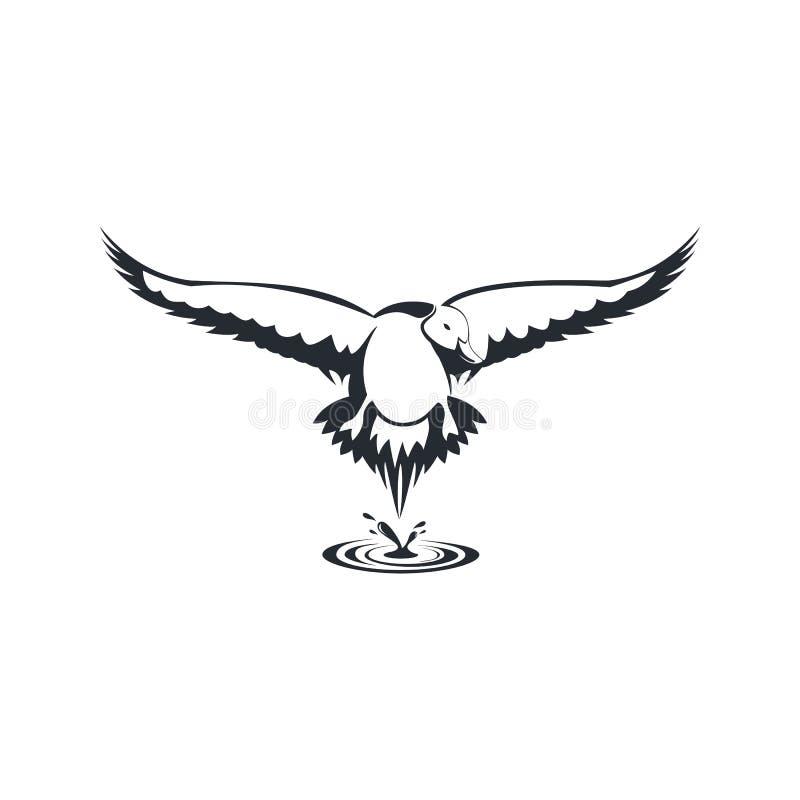 Illustratin van het het embleem vectorontwerp van de eendpijlstaart royalty-vrije illustratie