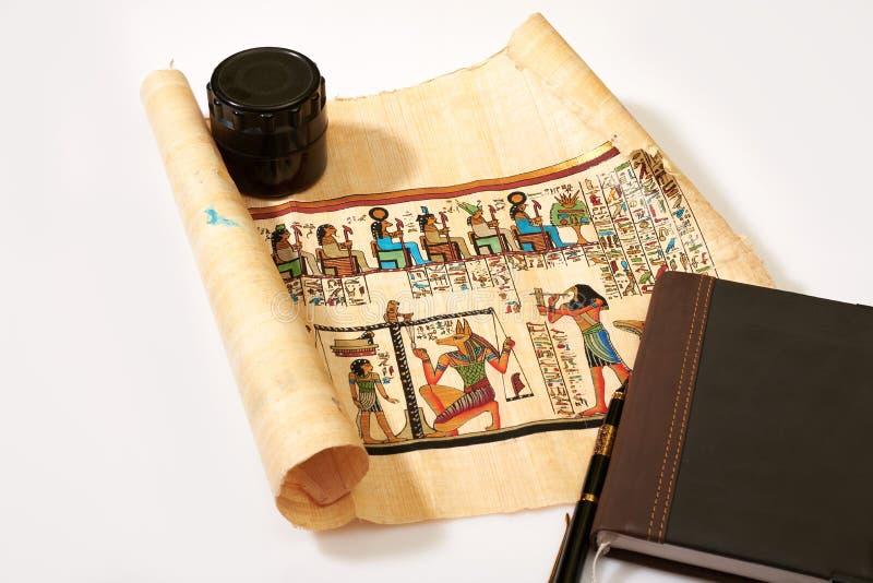 Illustrating scrolls Egypt. On white background royalty free stock photos