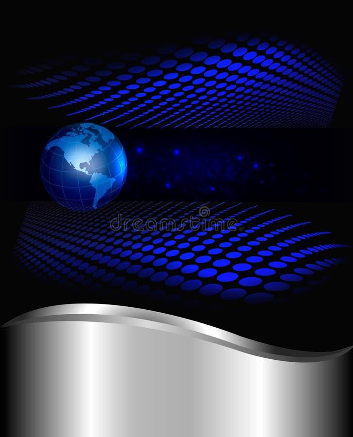 Illustratio abstracto del vector del fondo de la tecnología stock de ilustración