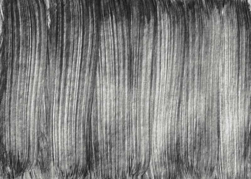 Illustratio blanco y negro del diseño del arte de la brocha de las rayas de la textura del extracto ilustración del vector