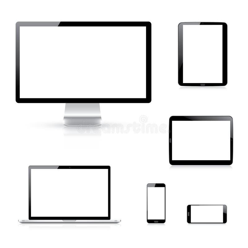 Illustratio moderno do vetor eps10 dos dispositivos eletrónicos ilustração royalty free