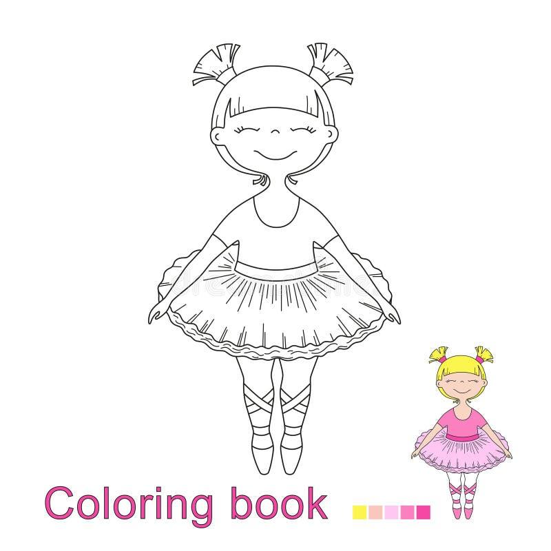Illustratiol de vecteur de petit beau danseur classique de fille illustration de vecteur