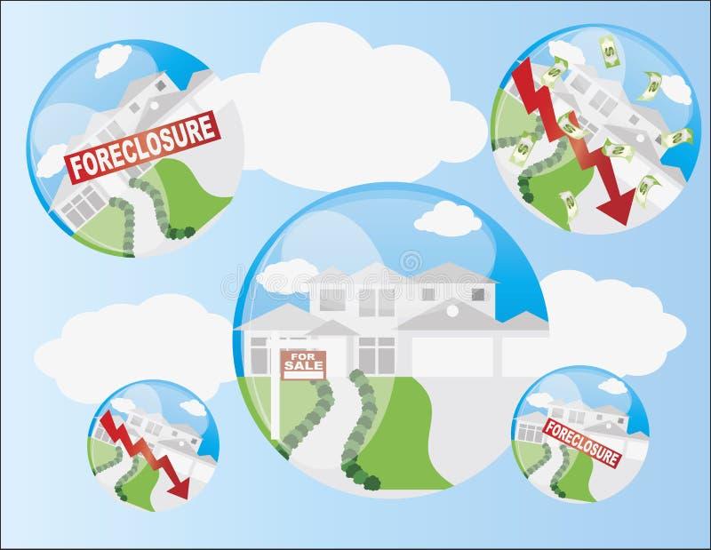 Illustration à la maison de bulle de boîtier illustration libre de droits