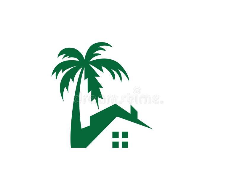 illustration à la maison de vecteur de logo de station de vacances illustration libre de droits